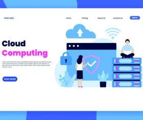 Cloud computing banners vector illustration