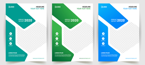 Colorful business poster banner vector