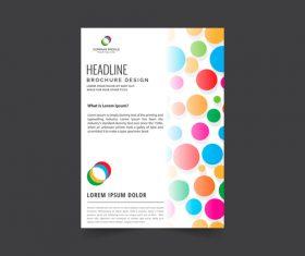 Colorful polka dot brochure cover vector
