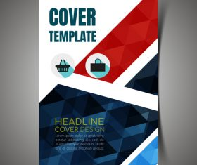 Company promotion cover template vector