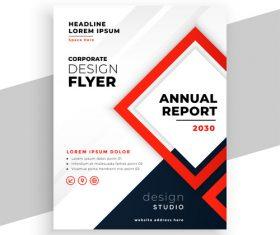 Corporate design flyer vector