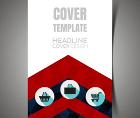Cover design template vector