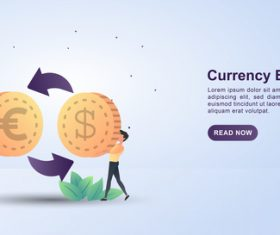 Currency exchange concept illustration vector