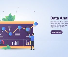Data analysis exchange concept illustration vector