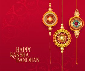 Decorative raksha bandhan greeting card vector