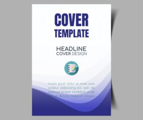 Design company promotional cover template vector