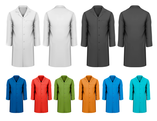 Different color trench coat vector