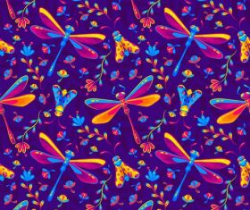Dragonfly background pattern vector