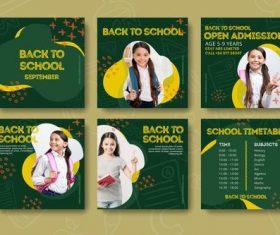 Elementary school student cover vector