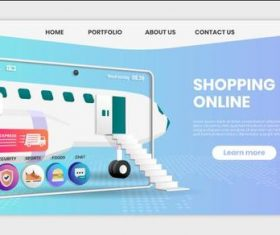 Express delivery business landing page template vector