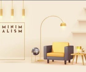 Fashion golden interior decoration vector