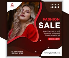 Fashion sale template design vector
