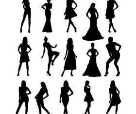 Female silhouette vector