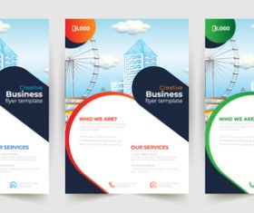 Ferris wheel background business poster banner vector