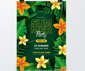 Flower cover party card vector