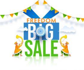Freedom big sale card vector