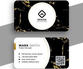 Golden line background business card design vector