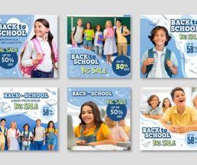 Half price student supplies sale vector