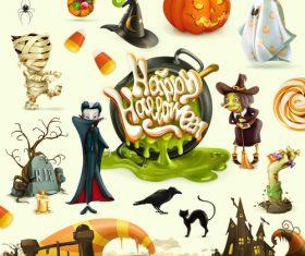 Halloween cartoon pattern illustration vector