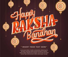 Happy raksha bandhan indian festival vector