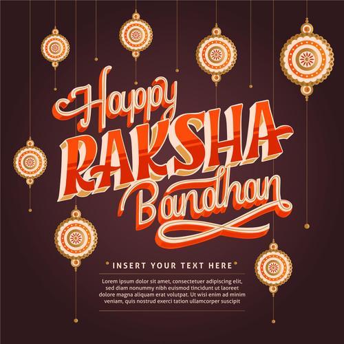 Happy raksha bandhan indian festival vector