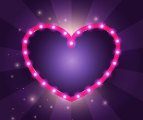 Heart neon backgrounds vector