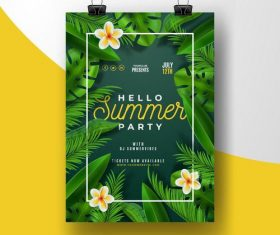 Hello party card vector