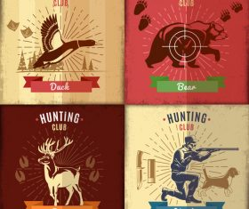 Hunting card vector