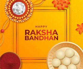 Indian raksha bandhan greeting card vector