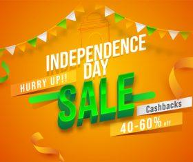 International day big sale card vector