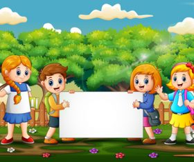 Kids cartoon background vector