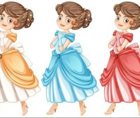 Lady cartoon character vector