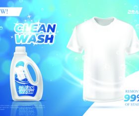 Laundry detergent advertising vector