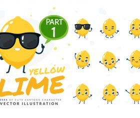 Lime cartoon character vector