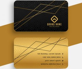 Line background business card design vector
