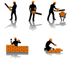Lumber man silhouette vector