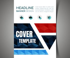 Mall sales cover design template vector