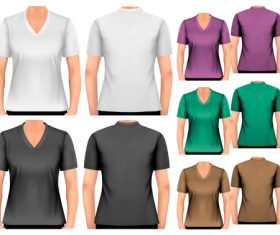 Men and women t-shirts vector