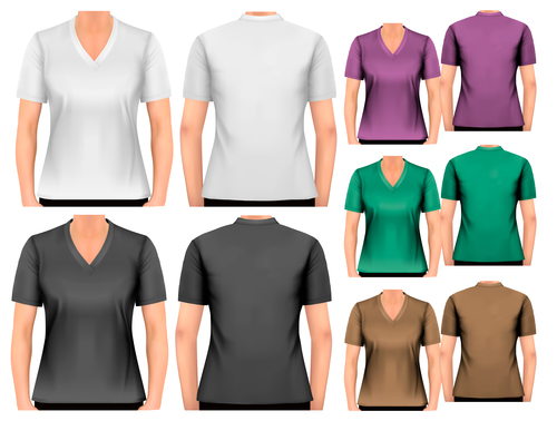 Men and women t shirts vector
