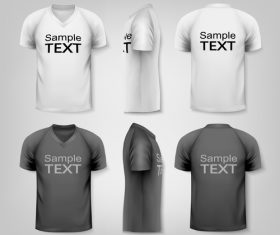 Mens t-shirts vector
