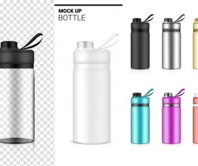 Mock up bottle vector