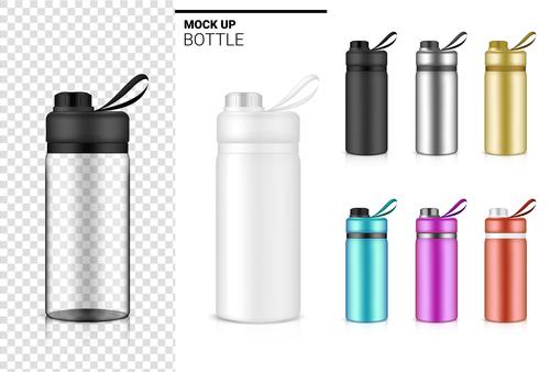 Mock up bottle vector