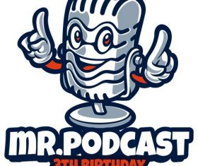 Mr Podcast logo vector