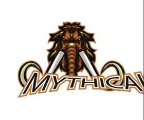 Mythical mammoth esport logo vector