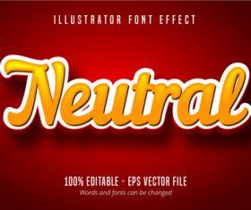 Neutral text 3D editable font vector