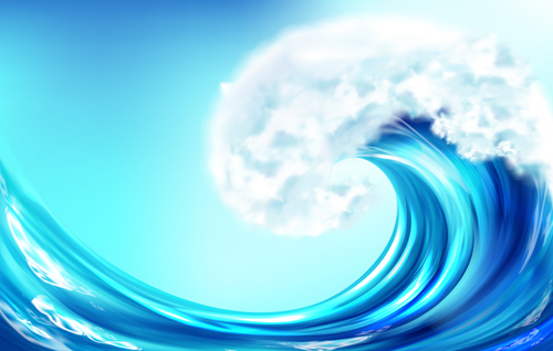 Ocean wave background vector