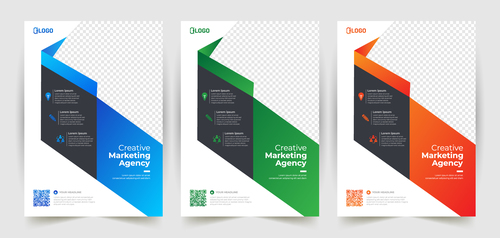 Origami background business poster banner vector