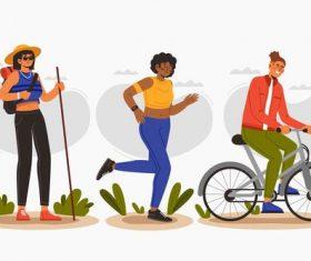 Outdoor sport people vector