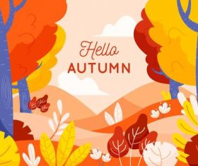 Outskirts autumn background vector