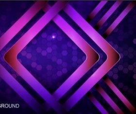 Overlapping pattern abstract background vector